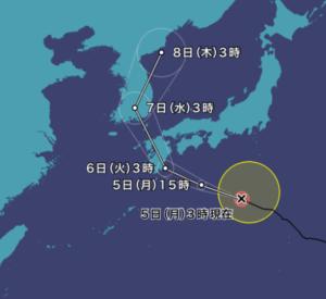 台風8号の進路予想