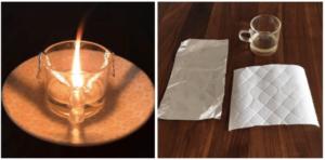 停電時に役立つサラダ油で簡易ランプ