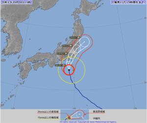 2019台風15号の進路予想・勢力