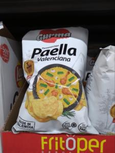 スペインのおすすめのお菓子・バレンシア風パエリア味のポテトチップス