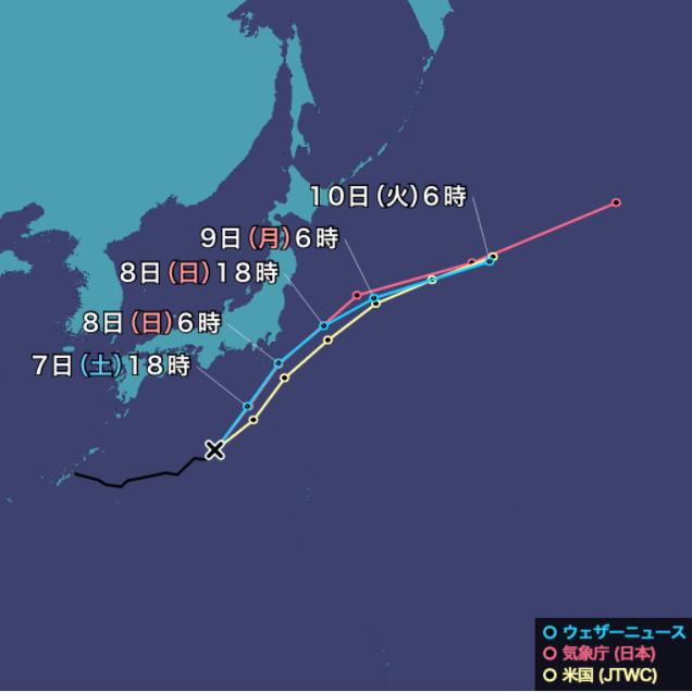 台風10号(ミリネ)2021年のニュース・米国JTWC米国海・空合同台風警報センター